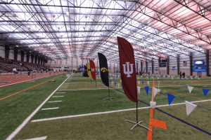 SPIRE indoor facility set up for collegiate event (